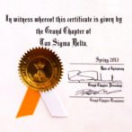 TSD Certificate